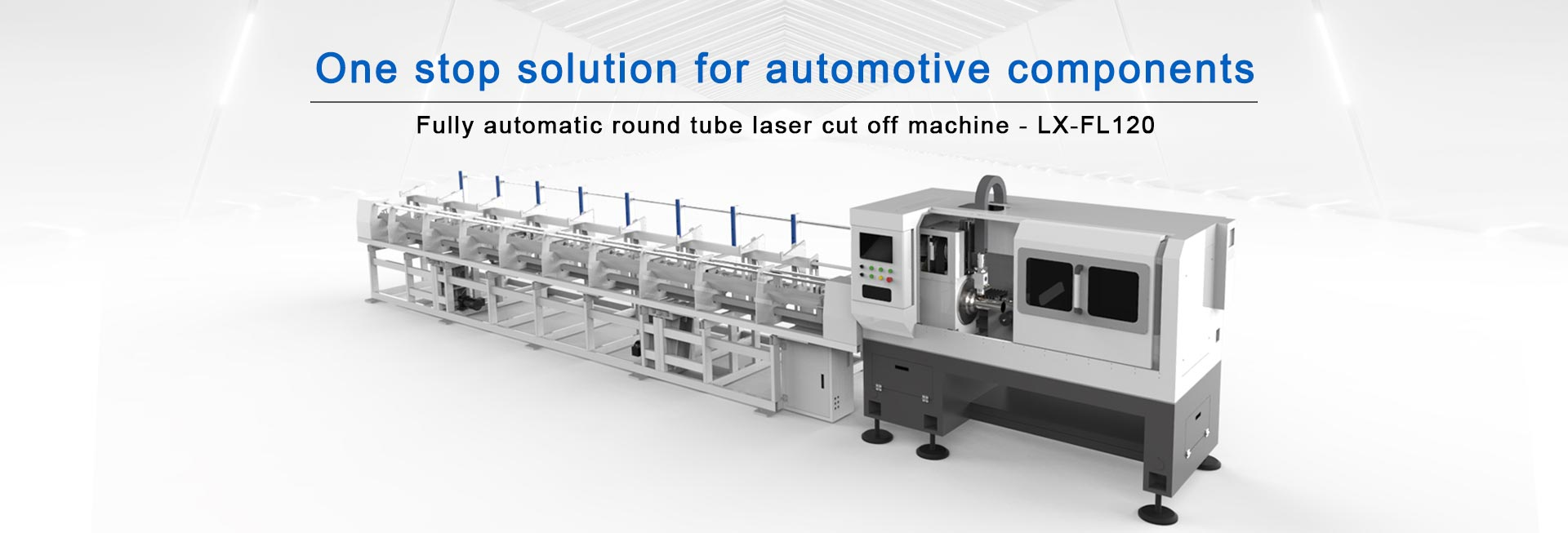 Round tube laser cutting machine for automotive parts manufacturing industry