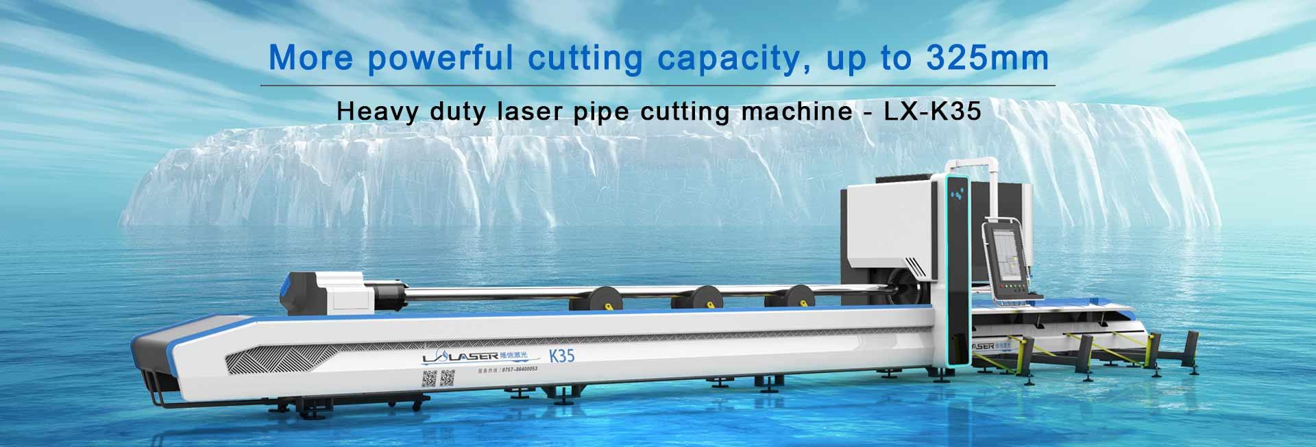 Heavy duty laser pipe cutting machine LX-K35