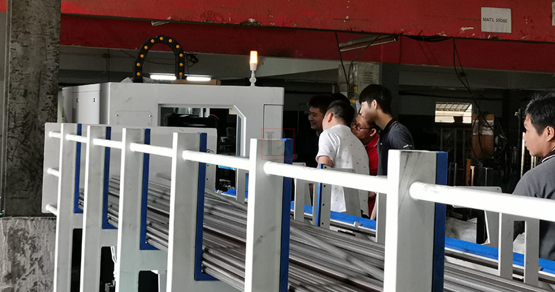 Automotive parts manufacturing with laser machine in Thai customer factory