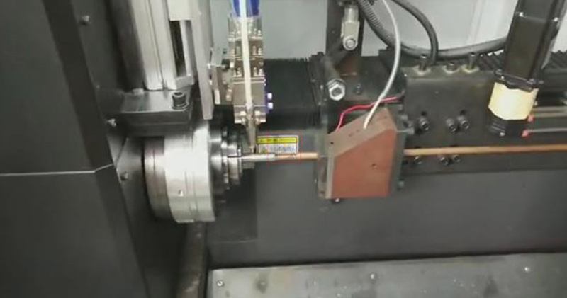Laser tube cutting machine in stainless steel water dispensers factory