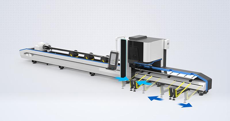 Heavy duty laser tube cutting machine