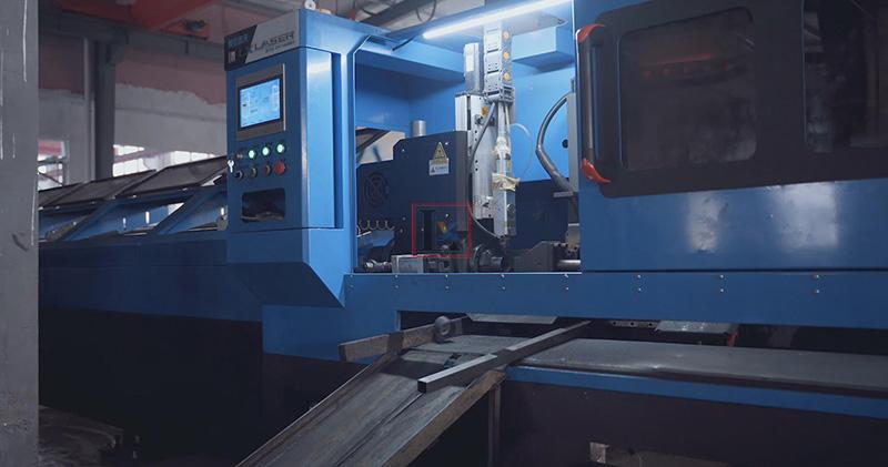 Laser pipe cutting machine in towel radiators manufacturing industry