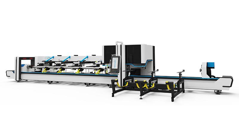 Three-chuck laser tube cutting machine
