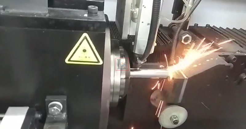 Curtain rods manufacturing with laser pipe cutting machine in India customer's factory