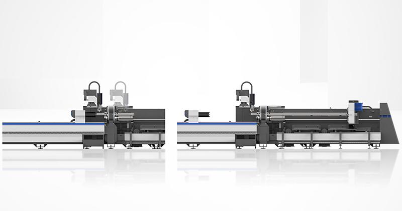 High speed three-chuck laser pipe cutting machine