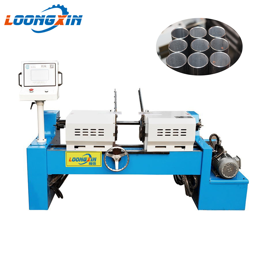 China manufacturer pneumatic double head long round metal stainless steel pipe tube rod bar deburring /chamfering machine