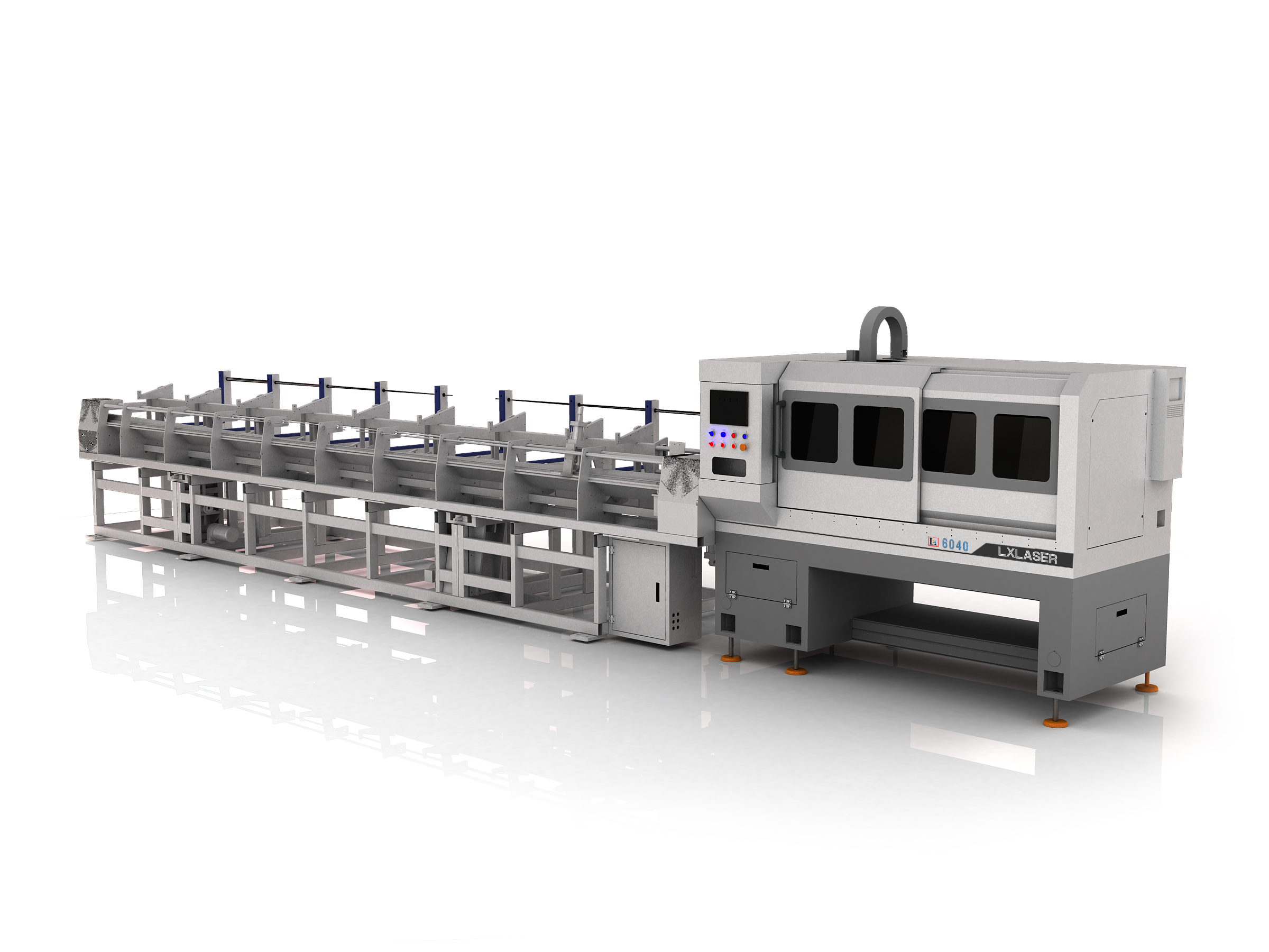 Fully automatic Laser tube cutting and chamfering line