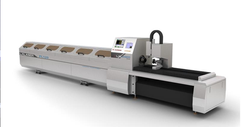 High speed Laser Tube Cutting Machine for round tube cutting and hole making