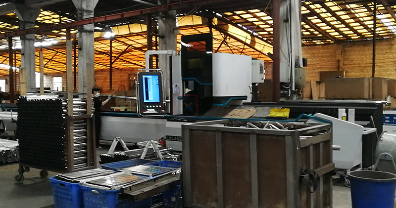 Customer factory which produces hospital beds & gullwing drying racks
