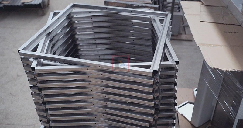 Oven brackets manufacturing with 2 sets of universal automatic laser tube cutting machines